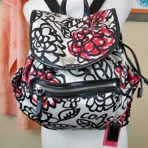 Coach Poppy Daisy Floral Graffiti Backpack